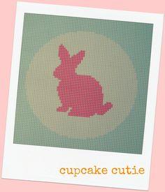 bunny cross stitch patterns to print | cupcake cutie: PDF PATTERN STORE