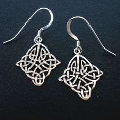 Small Sterling Silver Celtic Knot Earrings