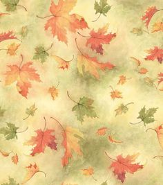"""""""Autumn Inspirations Susan Winget Floating Leaves Fabric, , hi-res"""" for napkins?"""