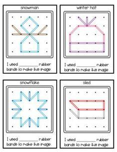 Geoboard Challenge Task Cards - Winter4