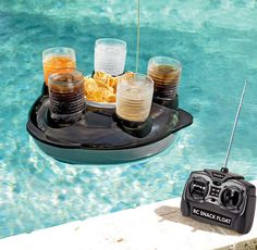 This remote-controlled drink and chip holder: