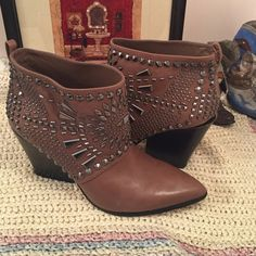 BCBGMAXAZRIA Black Creed Geometric-studded Bootie BCBGMaxAzria Shoes Ankle Boots & Booties
