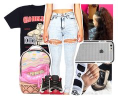 """""""for Deya """" by lowkeytayy ❤ liked on Polyvore featuring Religion Clothing, Sprayground, Case-Mate and Retrò"""