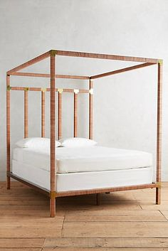 Leather-Wrapped Tory Bed