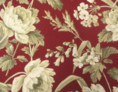 Waverly Summer Hideaway Crimson -For living room curtains