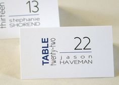 Modern Block Unique Place Cards / Escort by ExpressiveInvites, $1.30