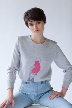 'Galah Jumper' in 100% merino wool, Australian made from Jude http://www.judeaustralia.com/shop/ #wool #merino #AustralianMade #JudeAustralia #jumper #winter
