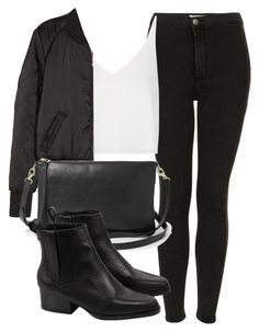 """""""Untitled #4401"""" by laurenmboot ❤ liked on Polyvore featuring Topshop, H&M and FOSSIL"""