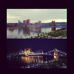 Visit my Ohio Family | Side note: I walked across the Purple People Bridge (shown in picture) a few times!