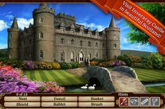 Hidden Objects game to boost visual figure ground skills