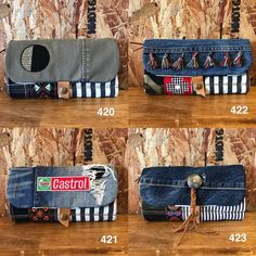 Sewing Jeans, Denim Purse, Denim Ideas, Denim Crafts, Old Jeans, Recycled Denim, Bag Making, Purses And Bags, Coin Purse