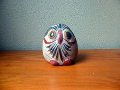 Mexican Pottery Tonala OWL Figurine 5 Mexico by TheRecycleista,