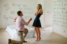 HowHeAsked – Marriage Proposal Ideas Morgan and Jackson's Proposal in their New First Home Best Wedding Proposals, Best Marriage Proposals, Love And Marriage, Propositions Mariage, Proposal Photos, Proposal Ideas, Perfect Proposal, Romantic Proposal, Dear Future Husband