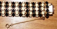 BLACK  and WHITE enameled bracelet safety by CommonCentsThrift, $36.00