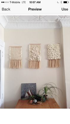 Weaving wall hanging tapestry by Maryanne Moodie Weaving Wall Hanging, Tapestry Wall Hanging, Wall Hangings, Loom Weaving, Tapestry Weaving, Arts And Crafts, Diy Crafts, Craft Day, Textiles