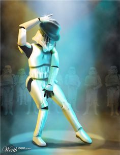 """Star Wars Stormtrooper / Michael Jackson  """"Ani are you ok, are you ok Ani"""""""