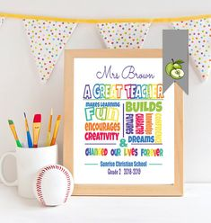 A Great teacher subway art printable digital file for end of year gift, NO PHYSICAL PRINT IS MAILED THIS IS A PRINTABLE FILE FOR YOU TO PRINT YOURSELF. *****Digital file ONLY***** *NO physically printed item will be mailed to you** ♥:::::::::::::::::: HOW TO ORDER