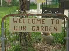Custom Garden Sign - Welcome to Our Garden on Etsy, $25.00