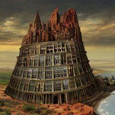 25 Stunning Surreal Illustrations and Creative Photo Manipulation by Igor Morski Land Art, Pop Art, Street Art, Eugenia Loli, Tower Of Babel, Kunst Online, Magic Realism, Creative Photos, Surreal Art
