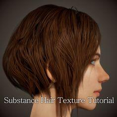 Substance Hair Texture Tutorial, chang-gon shin on ArtStation at https://www.artstation.com/artwork/XQmyR