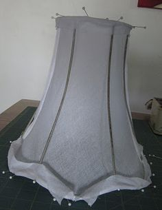 How to re cover a lampshade frame with an unusual shape including how to recover a lampshade tutorial over a wire frame with lining greentooth Choice Image