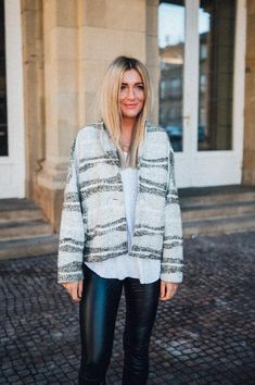 Piper O-Shape Jacket Ivory/Khaki – Karokauer Wedding Photographer Outfit, Models, Ivory, Shapes, Sweaters, Outfits, Fashion, Beautiful Patterns, Jackets