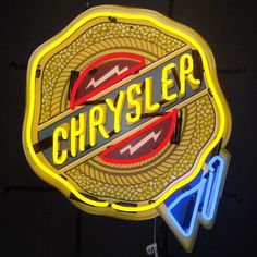 Neonetics Chrysler Badge Neon Sign with Backing