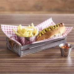 Wooden boxes to sell burgers and hot dogs - rustic diner feel. Could use in the bar and cafe.