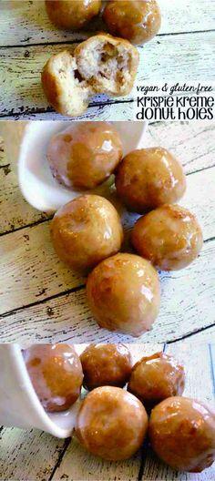 VEGAN & GLUTEN-FREE KRISPIE KREME DONUT HOLES COPYCAT RECIPE - coconut, corn syrup, dessert, donut, gluten free, milk, recipes