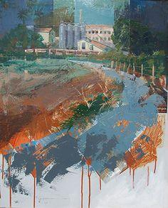 Urbana Rustica XXXI - Molino Real Paterna Valencia. Collage + Acrílico 81 x 65 cm.  / 3º Premio en el XXI Concurso de Pintura al aire libre Paterna 2016
