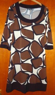 BROWN casual women's dress fashion dress comfortable soft Blu SAGE BRAND S MEDUM