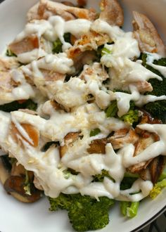 Caulif-redo Sauce (A.K.A. Paleo Alfredo Sauce)  (Really good!  Can be time consuming to cook chicken and veggies separately and make the sauce)