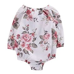 baby clothing | Newborn Infant Baby Girls Clothes Floral Retractable Elastic Bodysuit Romper