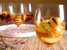 Grilled Peaches in Wine from CookingChannelTV.com