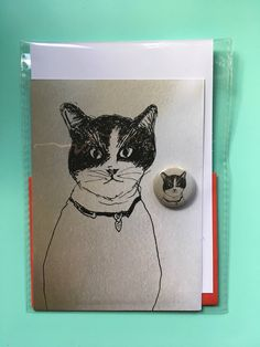 A personal favourite from my Etsy shop https://www.etsy.com/uk/listing/579068856/cat-card-duo-illustration-with-badge