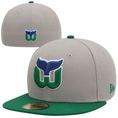 New Era Hartford Whalers 2-Tone 59FIFTY Fitted Hat - Gray/Green