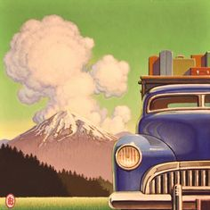 Robert LaDuke paintings available from Leslie Levy Fine Art Art Deco Posters, Hip Hop Art, Clip Art, Retro Art, Art Model, Vintage Travel Posters, Landscape Paintings, Folk Art, Art Drawings