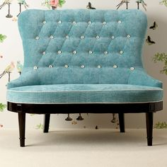 DROOLING over this love seat right now! I can't believe how much I love it... the colors, the curves.