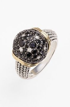Lagos 'Nightfall' Diamond & Black Spinel Ring available at #Nordstrom