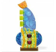 Head Small Pawel Borowski Glass Sculpture