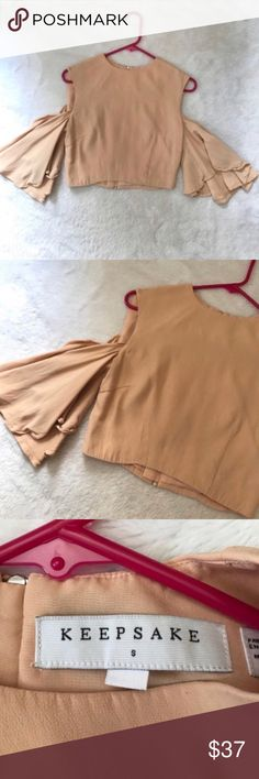 Revolve Light Pink Keepsake Cold Shoulder Crop Top ⚜️I love receiving offers through the offer button!⚜️ Good condition, as seen in pictures! Fast same or next day shipping!📨 Open to offers but I don't negotiate in the comments so please use the offer button😊 Check out the rest of my closet for more Adidas, Lululemon, Tory Burch, Urban Outfitters, Free People, Anthropologie, Topshop, Asos, Revolve, Zara, and American Apparel! KEEPSAKE the Label Tops Crop Tops