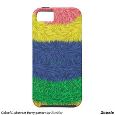 Colorful abstract furry pattern tough iPhone 6 case