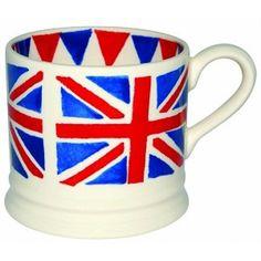 #vakantiekriebels #union jack #pand56 - Wapper de vlag met onze eigen Union Jack Baby Mug. We houden van alle dingen die Brits zijn  € 21,50