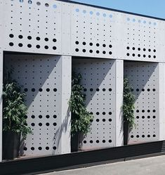 Perforated facade detail. School in Australia. EQUITONE facade materials. equitone.com