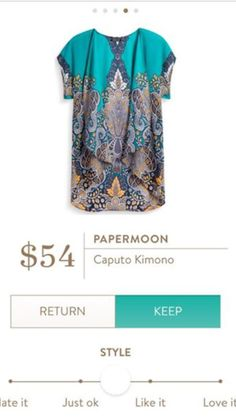 I LOVE THIS! Sooo cute. I would love this or a similar short sleeved kimono Papermoon Caputo Kimono - Stitch Fix July 2016