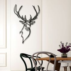 Minimalistic Animal Wall Signs Made From Just One Line - UltraLinx Laser Art, Simple Line Drawings, 3d Pen, Wire Crafts, Wire Art, Simple Lines, Wall Sculptures, String Art, Designs To Draw