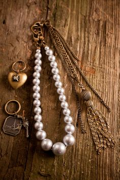 Angel Court Pistol and Pearls Necklace