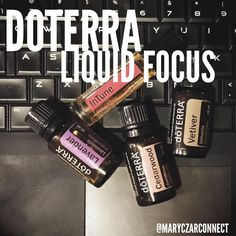 doTERRA Liquid Focus: Cedarwood for soothing the mind, Lavender to reduce anxious feelings, Vetiver for calming and grounding, and InTune to promote a sense of clarity... Have a kiddo that needs help with focus? Or maybe needing some support concentrating and focusing at work? This one is the blend for you! Great use of certified pure #essential oils to support your body naturally... #naturalwellness #healthyliving #naturalsolutions #doterra #essentialoilrecipes #diffuserblend