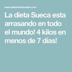 La dieta Sueca esta arrasando en todo el mundo! 4 kilos en menos de 7 días!