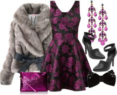 Be pretty in purple for all your holiday parties. All Items shopped from Just In under Dress Outfits, Fashion Dresses, Party Outfits, Dress Up Closet, New Years Outfit, Purple Rain, Holiday Fashion, Holiday Wishes, Holiday Parties